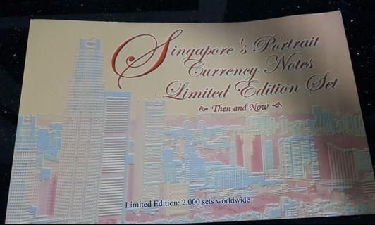 Singapore's potrait currency notes limited edition set Then and Now