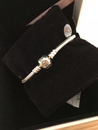 PANDORA 潘朵拉手環 925純銀 17公分