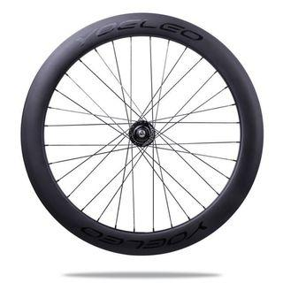 Fixie black rear wheel