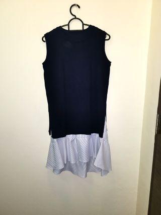 🚚 Dark blue 2pcs Dress