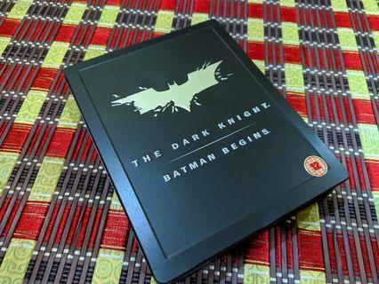 Dark Knight & Batman Begin Blu Ray Steelboook For Sale