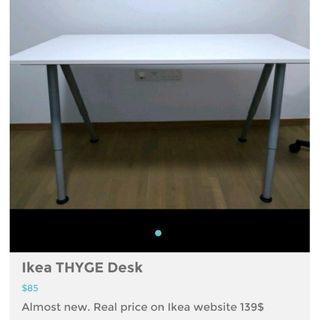 Ikea THYGE white desk