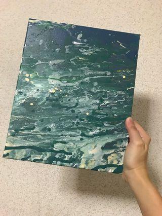 Acrylic paint art pouring lesson