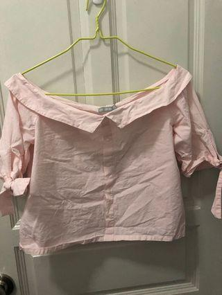 6ixty8ight Pink Off Shoulder Top