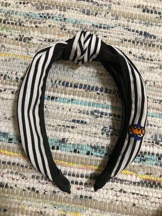 紐結條紋髮圈