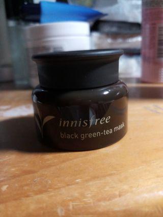 Innisfree黑綠茶面膜