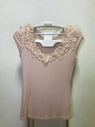 H&M Lace Pink Top