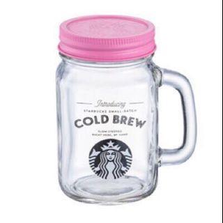 🚚 星巴克-雙蓋玻璃吸管杯梅森杯