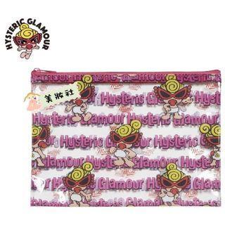 【Hysteric mini】 透明拉鍊PVC收納包:粉色 ($35)