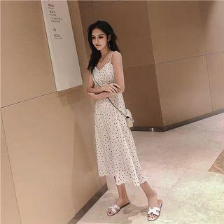 Heart shape prints white dress