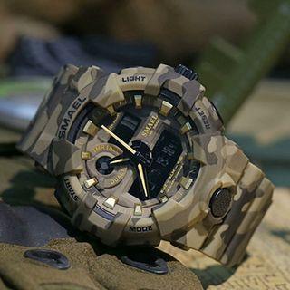 SMAEL Original Multi-function Camouflage Waterproof Sport Electronic Watch