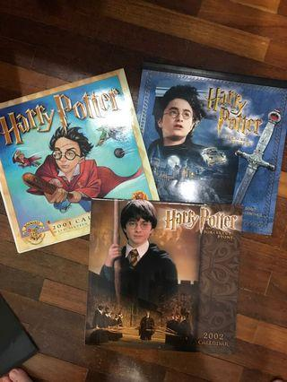 Collectable Harry Potter calenders. Good condition