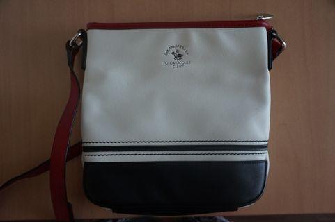 Santa Barbara Polo & Racquet Club White Sling Bag