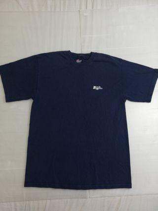 🚚 Ngu古著    深藍純棉小logo t恤