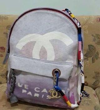 Chanel backpack grafitti