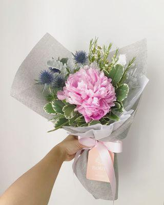 🚚 20% OFF Pretty Peony Bouquet | Fresh Flowers | Flower Delivery | Singapore Florist