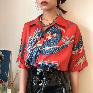 DRAGON BUTTON UP