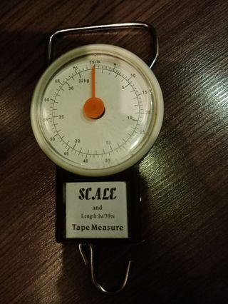 Fishing scale and tape measure