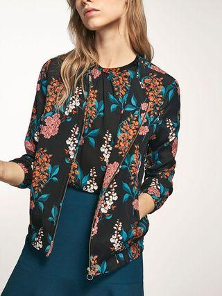 Massimo Dutti Floral Printed Bomber Jacket 5126/809