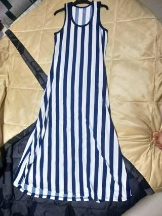 Striped Dress maxi