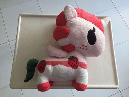 BN Large Strawberry Unicorn Soft Toy for Sale