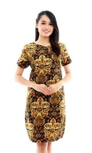 Dress Batik cantique fit to 62kg