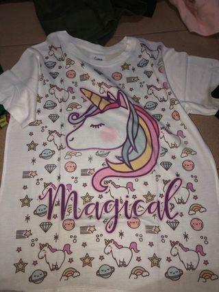 Kaos anak unicorn