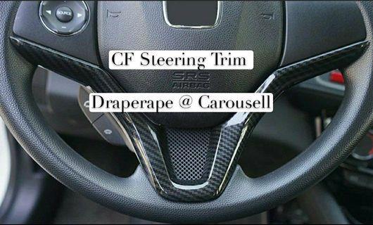 CF V Steering Trim - Honda Vezel / HRV / Fit / Jazz / Shuttle