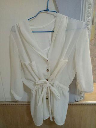 🚚 雪紡襯衫+背心