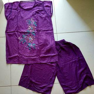 Piyama/ baju tidur set batik lukis