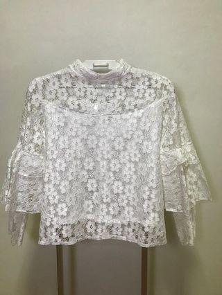 One set White Lace Top and Skirt