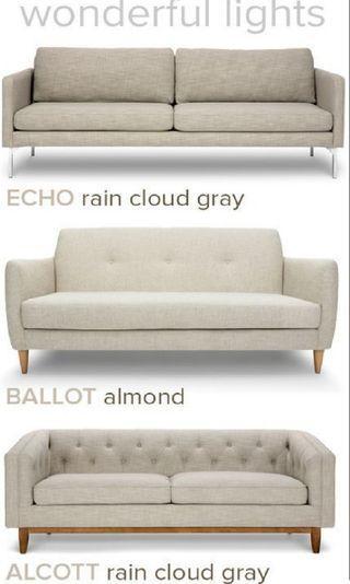 sofa two seat grey