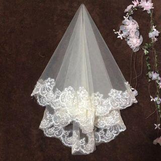 New wedding veil ~ champagne colour 新娘頭紗
