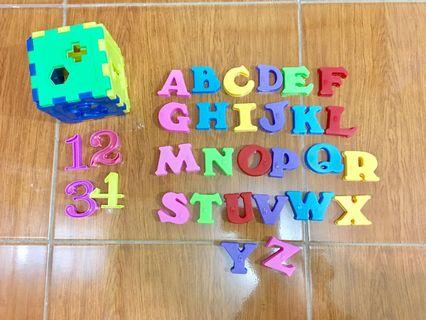 Letters Magnet A to Z + Puzzle Blocks
