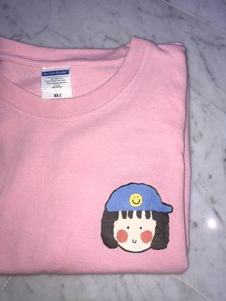 Women's Round Neck T-Shirt with Ulzzang Design