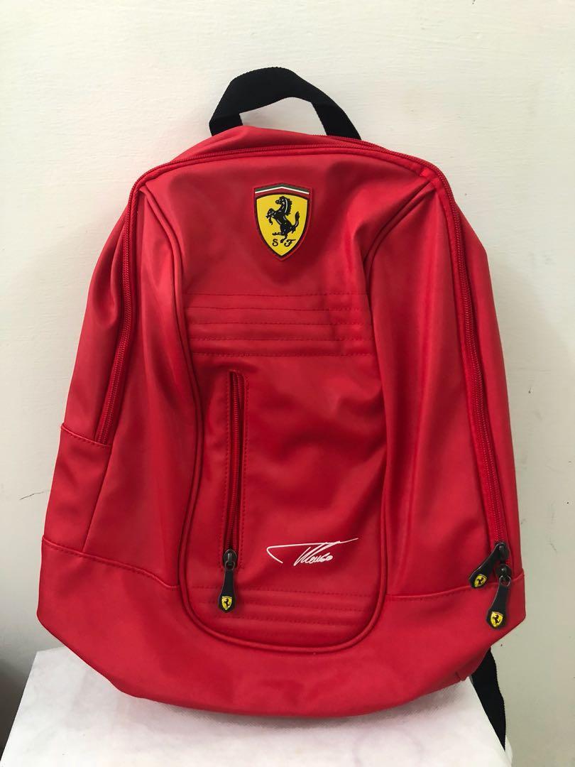 [全新法拉利Ferrari紅色電腦包/後背包]家中長輩珍寶大出清