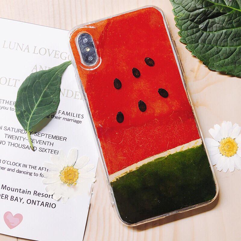 《預購》蘋果手機-純手工打造真的水果、真的西瓜打造夏日必備清新手機殼