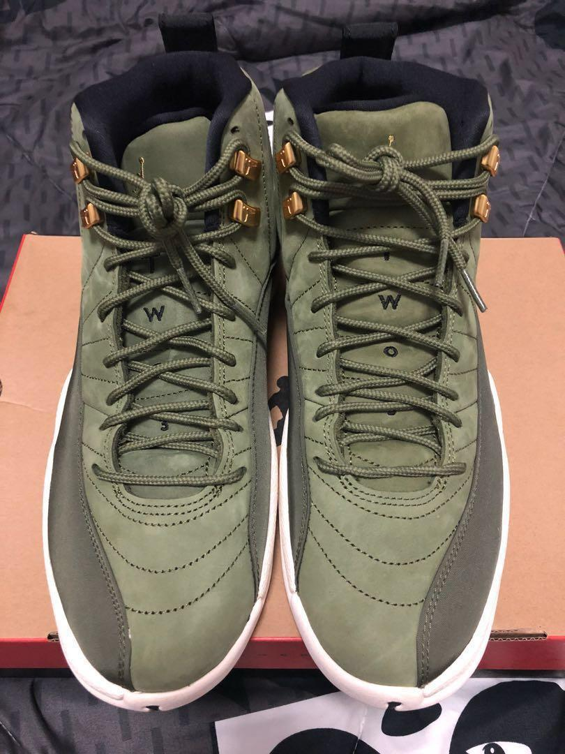 cheaper 846b6 d1642 Air Jordan 12 Retro CP3 Olive Canvass, Men's Fashion ...
