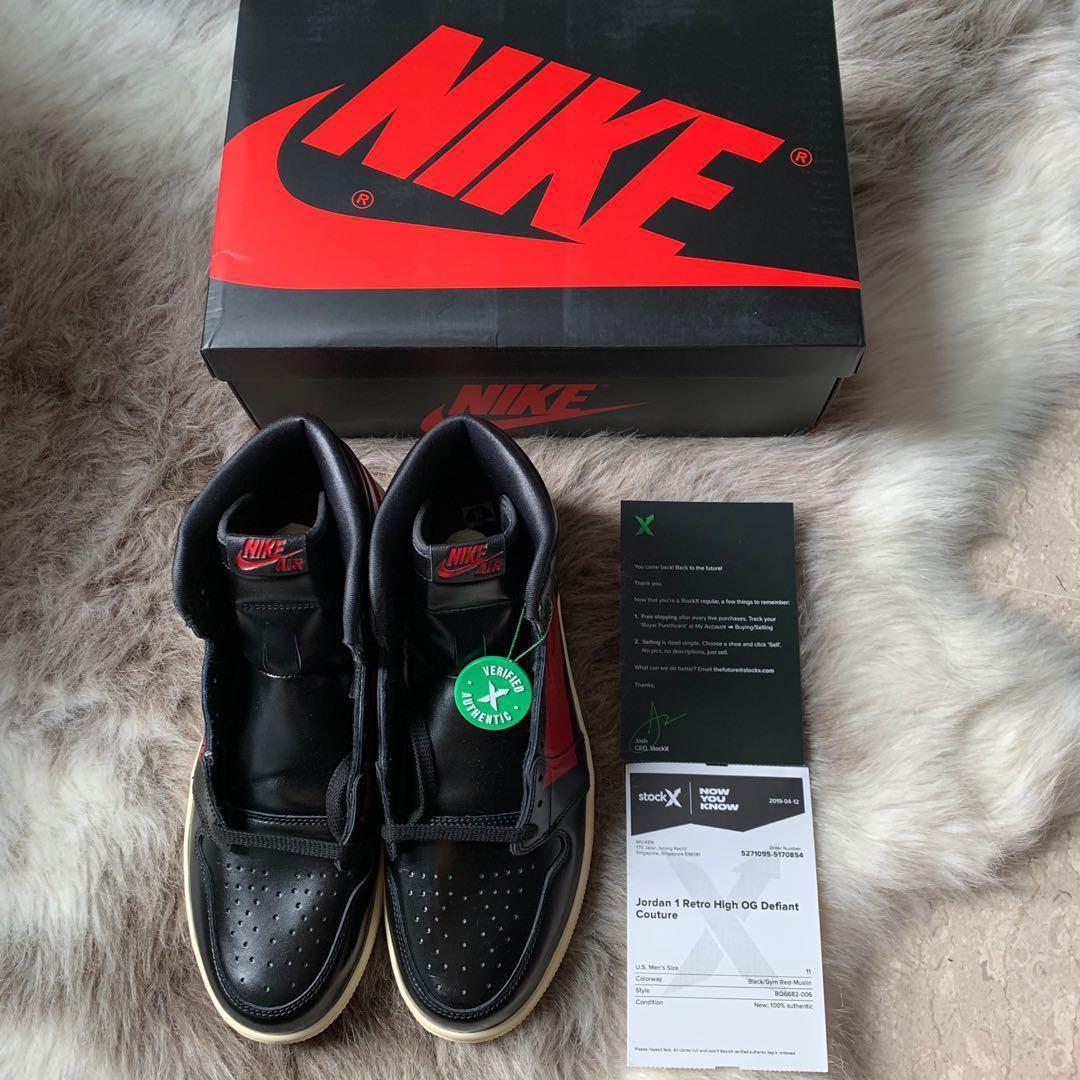 ef60e121 Air Jordan 1 OG Defiant Couture US11, Men's Fashion, Footwear ...