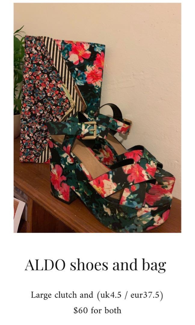 Aldo clutch and wedges