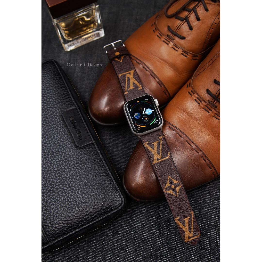 Apple Watch Band Series 4 Band 44mm 40mm | LV Apple Watch Band LV iwatch Band | Brown Monogram Watch Band | iwatch Series 4 Band | Gift
