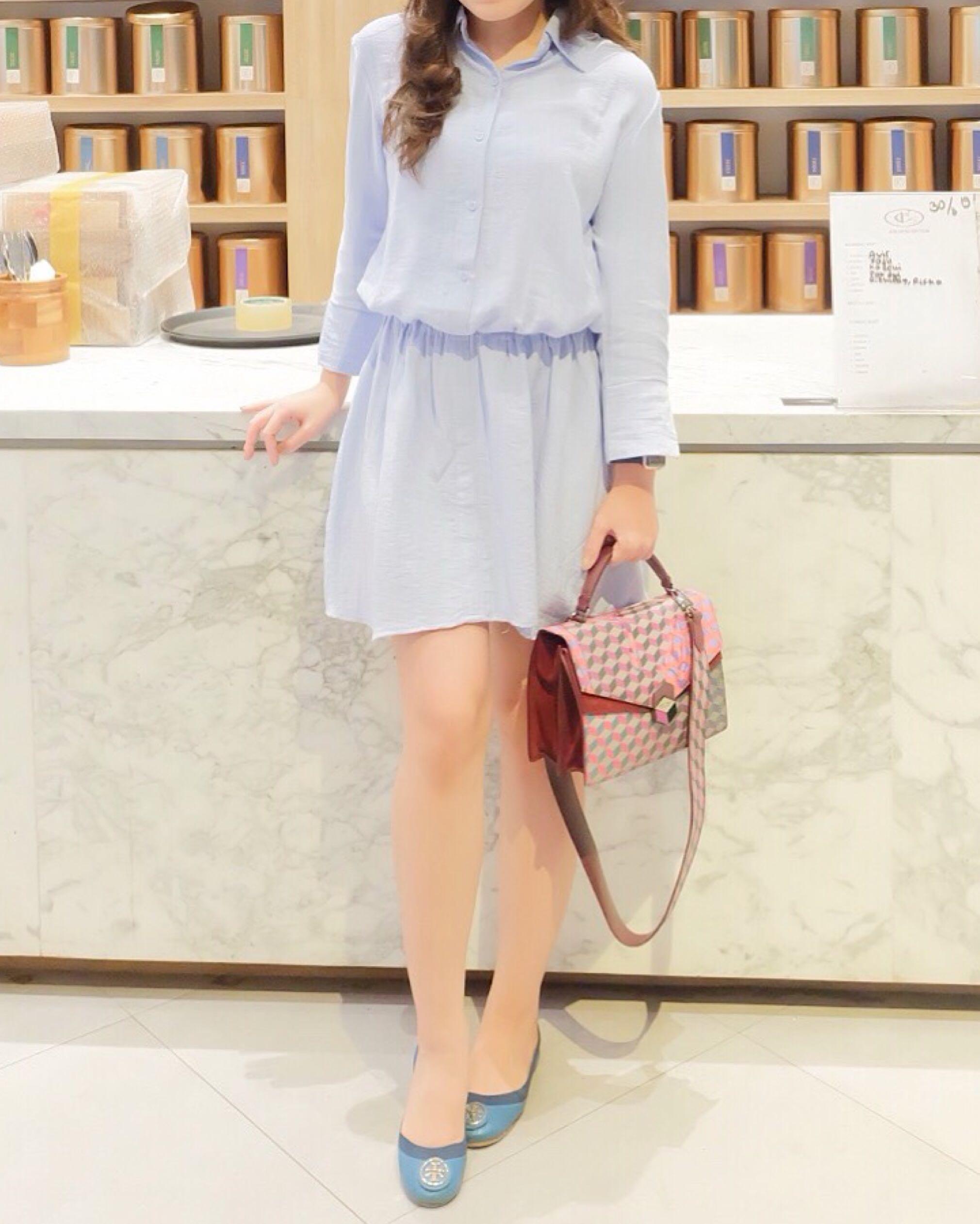 Baby Blue Dress H&M