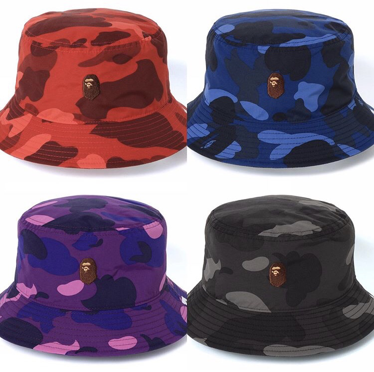 0b2a5247129e95 Bape color camo ape head one point bucket hat, Men's Fashion, Accessories,  Caps & Hats on Carousell