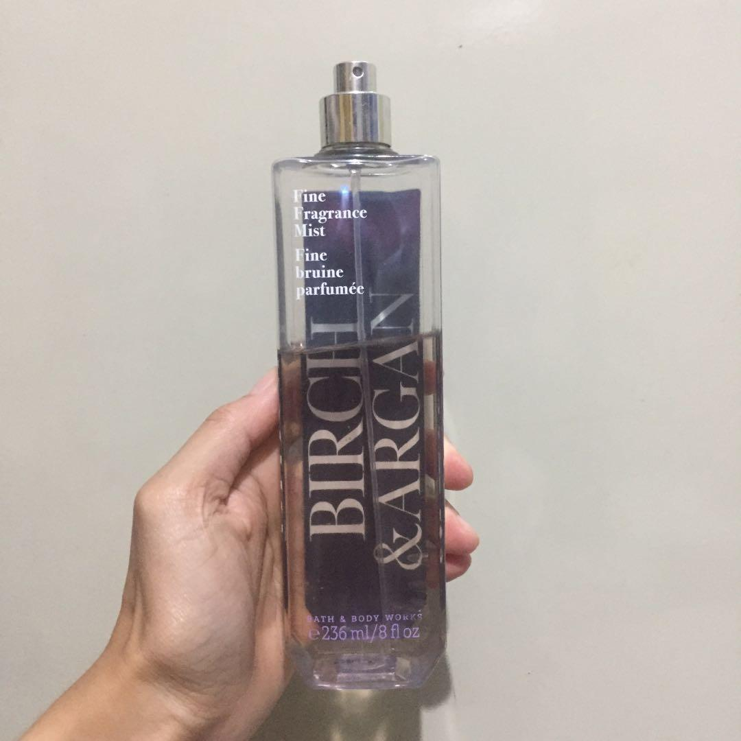 Bath & Body Works Fragrance Mist birch and argan