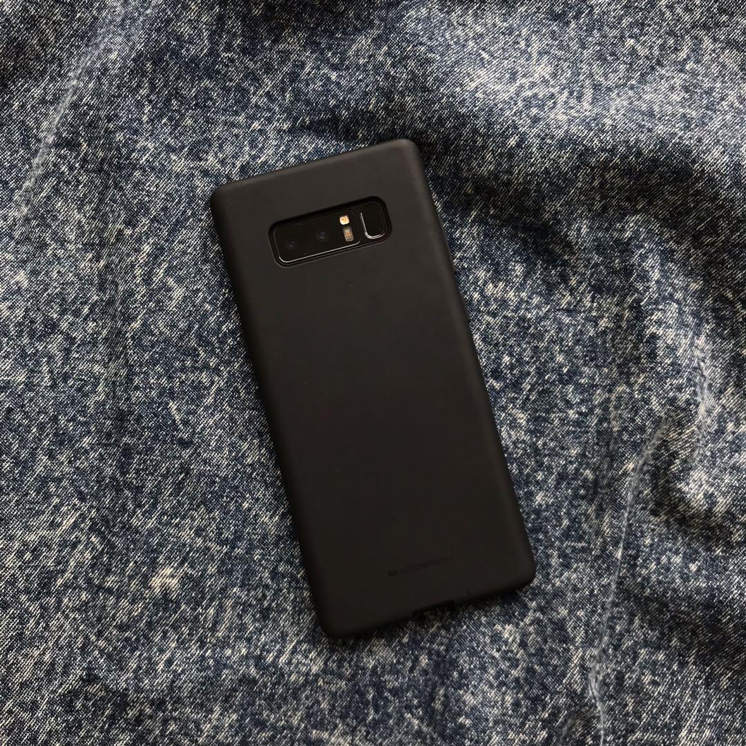 Black Bumper Silicone Case for Samsung Galaxy Note 8