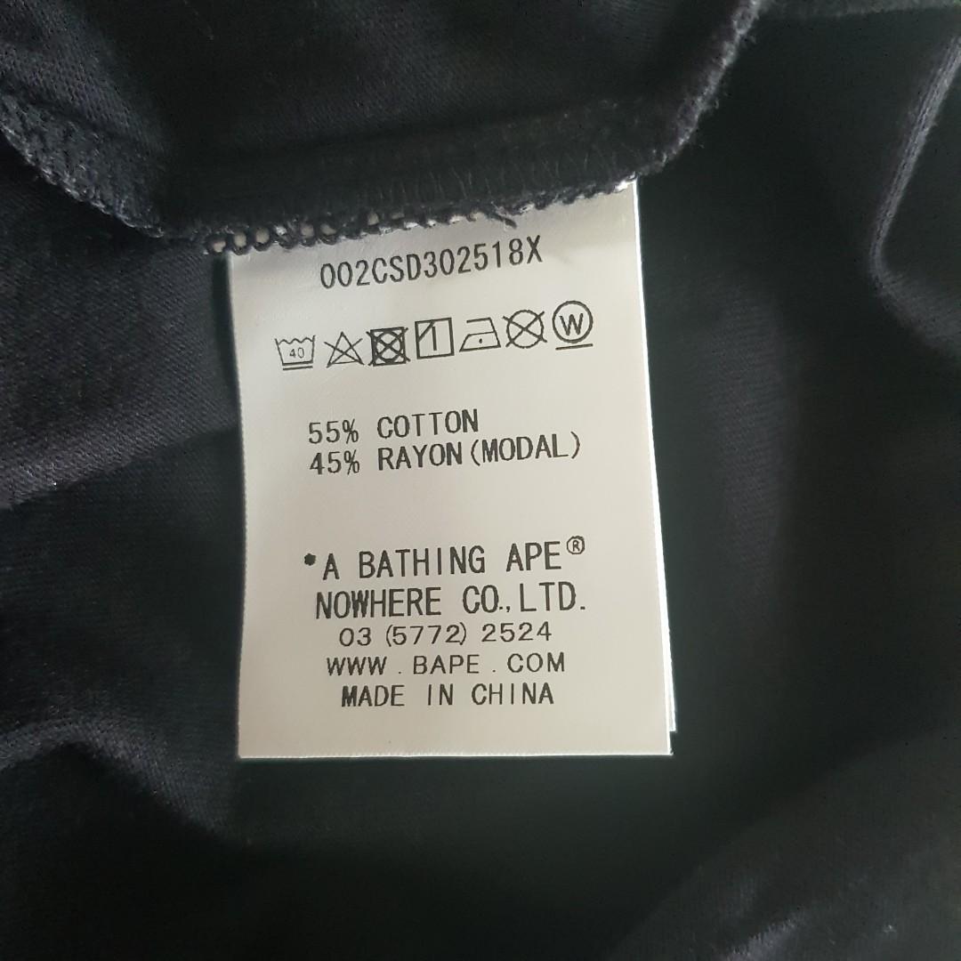BNWT Authentic BAPE / A BATHING APE Black Oversized T-shirt Top - free size