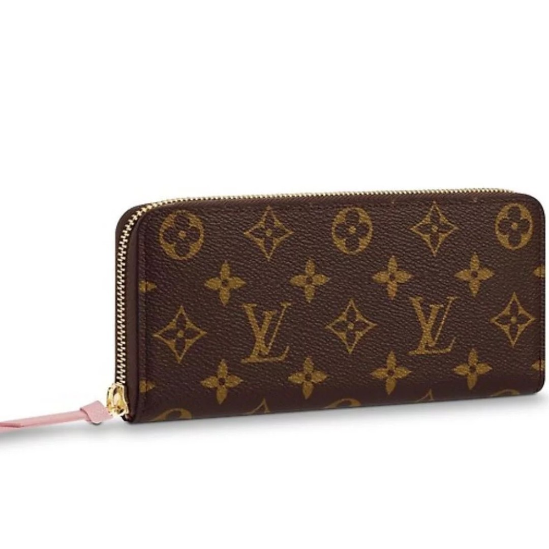 ae5e100b862 BRAND NEW Louis Vuitton LV Clemence Canvas Ladies Womens Wallet ...
