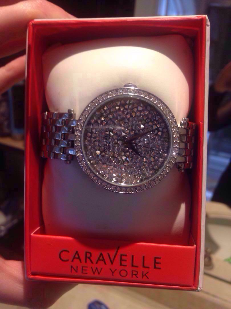 Caravelle brand new sparkly silver watch bulova