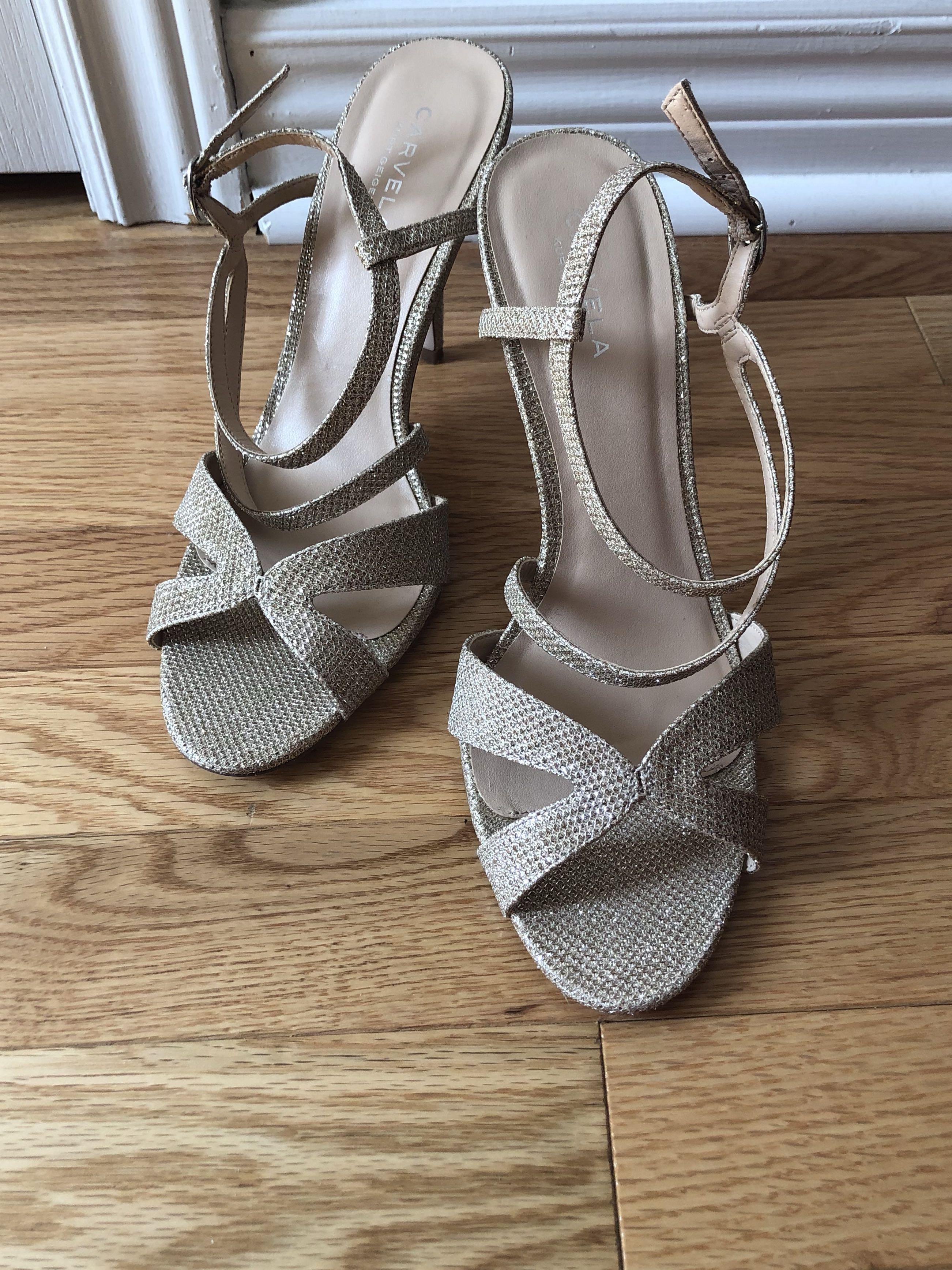 Carvela Kurt Geiger Metallic Ladybird High Heel Sandals