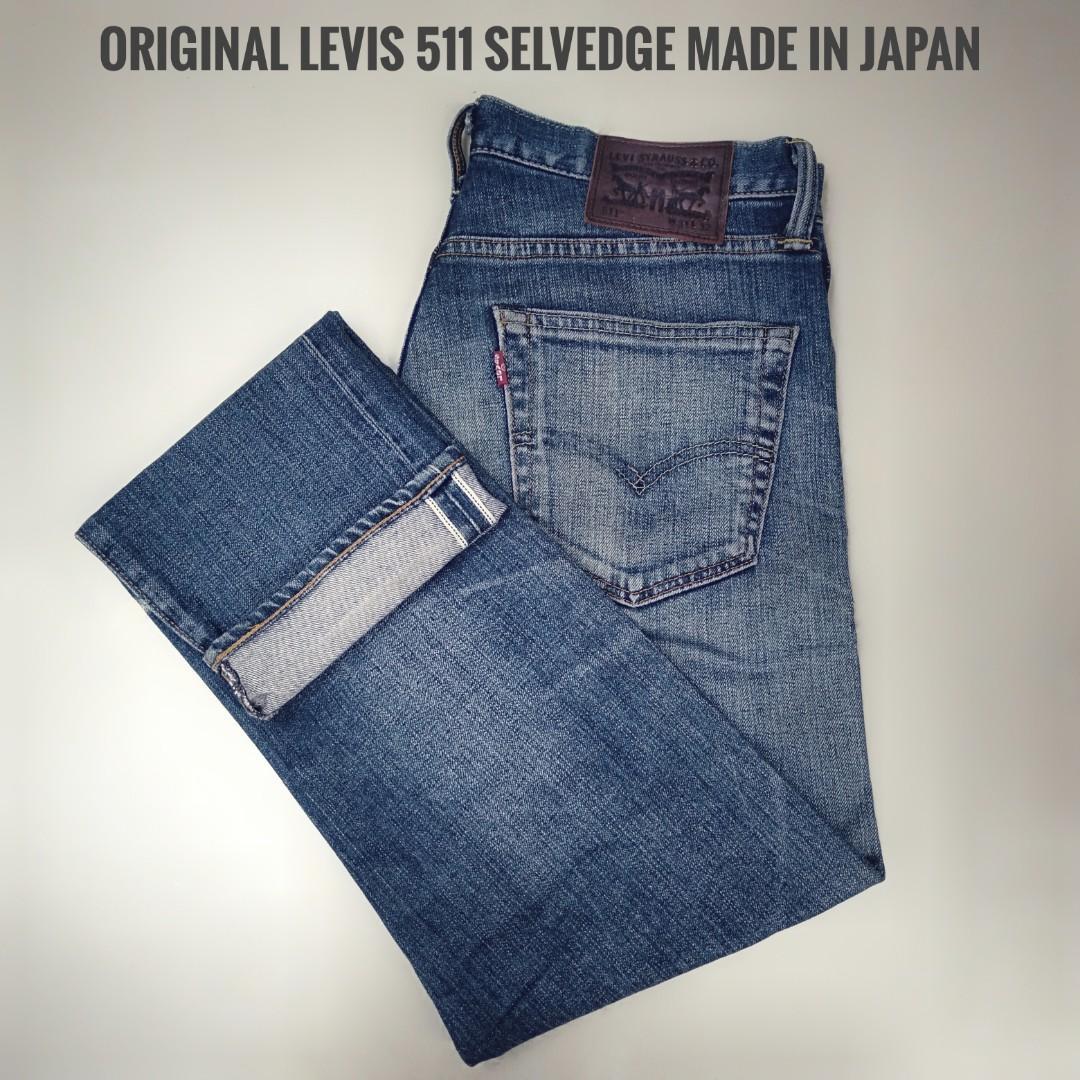 Celana Jeans levis 511 selvedge original